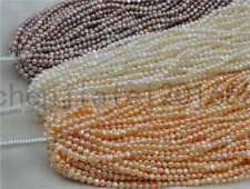 wholesale 5 Qty Genuine freshwater pearl strings 4-5mm white pink purple