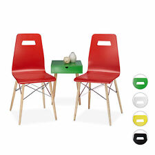 Designer Chair Set Dining Chairs Seating Group Office Chairs 2 Retro Modern Seat
