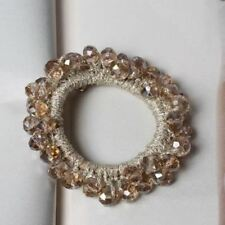 Women Handmade Polyester Material Crystal Decorated Hair Band Accessories