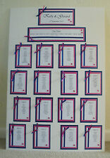 HANDMADE PERSONALISED HEARTS WEDDING SEATING PLAN 12 - 14 TABLES - X LARGE