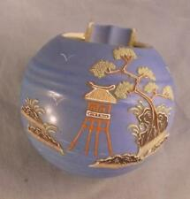 UNUSUAL ORB SHAPE HAND PAINTED POTTERY ASHTRAY MADE IN JAPAN