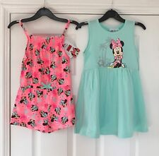 Disney Minnie Mouse Girls Dress or Playsuit 3 4 5 6 7 Years Primark Summer Beach