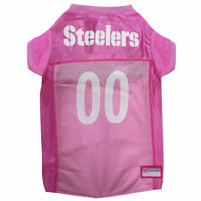 Pets First Pittsburgh Steelers NFL Pink Mesh Jersey