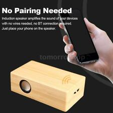 Mini Wooden Wireless Induction Lossless No Pairing Music Speaker Amplifier Y2N8