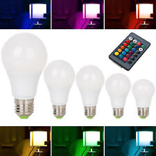 Dimmable RGB LED Light Bulb 3W 6W 12W 16 Color Changing Magic Lamp Remote ST-37