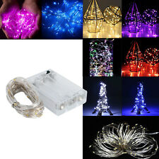 LED String Lights Copper Wire 10 40 60 70 80 90 LED Fairy Lights Battery Powered