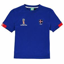 FIFA World Cup 2018 Iceland Core T-Shirt Juniors Blue Football Soccer Top Shirt