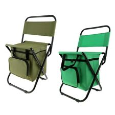 Portable Cooler Bag & Folding Chair 2 in 1 Beach Hiking Fishing Picnic BBQ