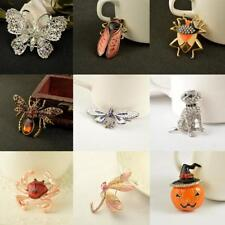 Retro Alloy Brooches Pins Animal Insect Butterfly Dog Fashion Jewelry Wedding