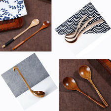 VARIOUS Cooking Spoon Long Handle Wooden Soup Kitchen Utensil Table Scoop