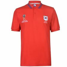 FIFA World Cup 2018 South Korea Polo Shirt Mens Red Football Soccer Top T-Shirt