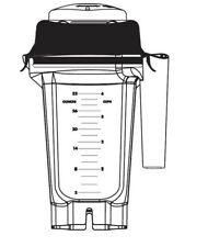 Vitamix 32oz / 0.9L Compact Stackable Container W/ Ice Blade & Lid