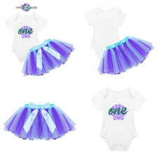 Baby Girls 1st Birthday Outfits Romper Top+Tutu Skirt+Headband Party Clothes Set
