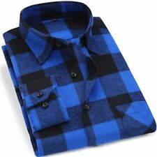Men Plaid Pattern Cotton Fabric Casual Wear Red Color Long Sleeve Shirt