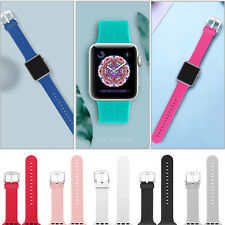 38/42mm Silicone iWatch Band Fashion Wrist Strap Bracelet  for Apple Watch1 2 3