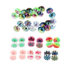 6pcs Stainless Steel Acrylic Tapers Cheater Fake Ear Plugs Stud Earrings 14g