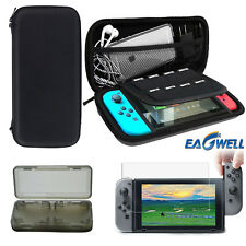 2017 For Nintendo Switch Hard Shell Case Bag+Tempered Glass Film+Game Card Box