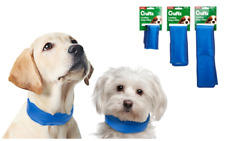 Crufts Cooling Dog Collar Neck Cool Down Gel Ice Pack Ripper Strap S M L Dogs