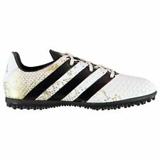adidas Ace 16.3 AG Artificial Grass Trainers Mens Wht/Blk/Gld Football Soccer