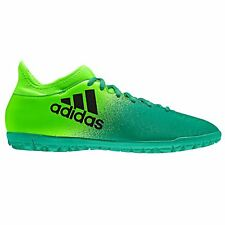 adidas X 16.3 AG Artificial Grass Trainers Mens Grn/Blk Football Soccer Sneakers