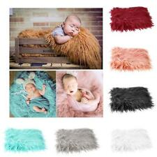 Hot Newborn Infant Baby Photo Props Photography Soft Fur Quilt Blanket Mat Gift