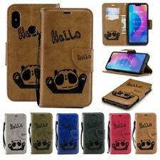 For Xiaomi Pattern PU leather Wallet Phone case stand Strap Panda Card holder