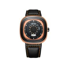 MEGIR Simple Men Waterproof Watch Square Dial Leather Band Quartz Wristwatch New