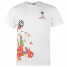 FIFA World Cup Russia 2018 Graphic T-Shirt Mens White Football Soccer Top Shirt