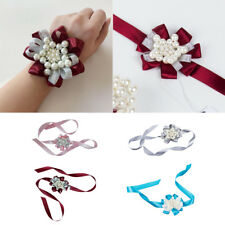 Girl Bridesmaid Wrist Corsage Wedding Wrist Flowers Party Prom Hand Flower