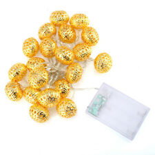 20LED Hollow Ball  Light String AA Battery party Holiday Festive Decoration new