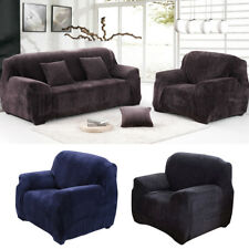 1/2/3/-Seater Sofa Covers Elastic Slipcover Solid Thick Plush Sectional Couch