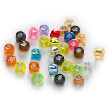 Random Mixed Acrylic Barrel Crafts Foil Jewelry Making Spacer Beads 6-12mm