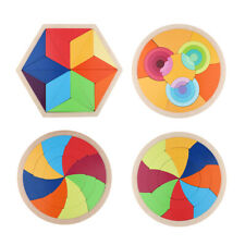 Wooden Puzzle Tangram Jigsaw Educational Toys Preschool Children Toy Gifts