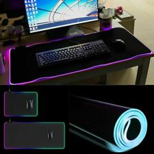 Large RGB Colorful LED Lighting Gaming Mouse Pad Mat Accessories for PC Laptop