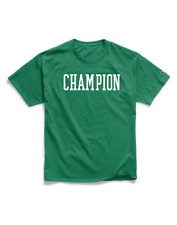 BLOCK LOGO MEN'S CLASSIC JERSEY TEE BY CHAMPION