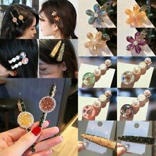 Fashion Flower Crystal Pearl Hair Clip Hairband Comb Bobby Pin Barrette Hairpin