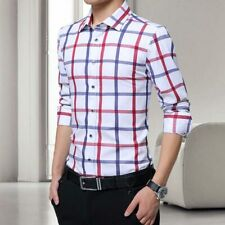 Tops Fashion Shirt Casual Luxury Men's Slim Fit Stylish Long Sleeve Business