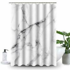 Uphome Marble Bathroom Shower Curtain, Heavy Duty White and Grey Fabric Shower C