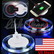 US Qi Wireless Charger Charging Pad For iPhone Samsung Galaxy S9 S8 S7 Note 9 mr