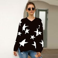 Loose Tops Knitted Long Sleeve Jumper Sweater Knit Shirt Casual Pullover Womens