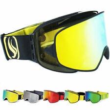 Ski Goggles 2 in 1 with Magnetic Dual-use Lenses Night Snowboard Skiing Goggles