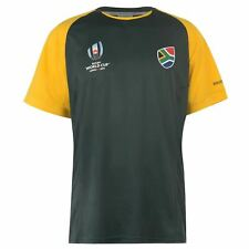 South Africa Rugby World Cup 2019 Team Poly T-Shirt Mens Green Fan Top Tee Shirt