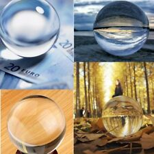 40-100mm Clear K9 Crystal Photography Lens Ball Photo Prop Background Home Decor