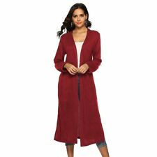 Outwear Womens Casual Loose Sweater Long Cardigan Jacket Knitted Long Sleeve