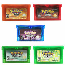 Fan Advance Gameboy Cartridge Game Card For Pokemon NDSL/GBC/GBM/GBA/SP W6R0Q