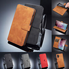 Case For Samsung Note 10 S11 S10 S9 S8 Plus Flip Retro Leather TPU Wallet Cover