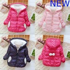 Kids Girls Outerwear Hoodie Jacket Toddler Clothes Warm Coat Padded Winter