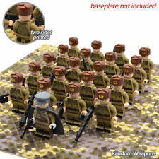 21PCs WW2 Army Military Minifigures fits lego Building Blocks Warrior Soldier