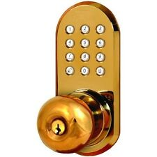 WIRELESS Door Lock - REMOTE Door Knob With Keypad