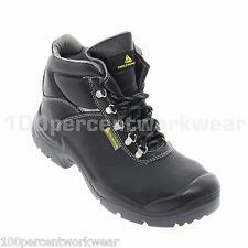 Delta Plus Panoply Wide Fit SAULT Safety Work Leather Boots S3 Rated Steel Toe